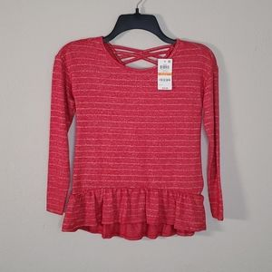 Epic Threads Red Long-sleeve Top - Size Small